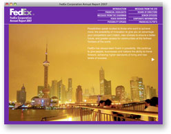 FedEx Online Annual Report 2007