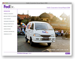 FedEx Online Annual Report 2008